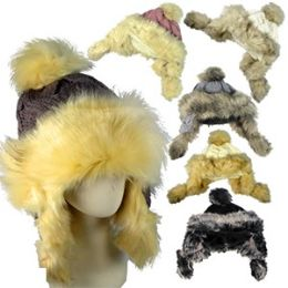 12 Units of FAUX FUR AND KNIT HATS. - Fashion Winter Hats