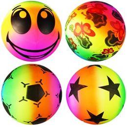 120 Units of INFLATABLE RAINBOW BOUNCY BALLS. - Balls