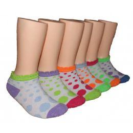 480 Units of Girls Polka Dot Low Cut Ankle Socks - Girls Ankle Sock