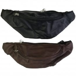 24 Units of Fanny Bag Leatherette - Fanny Pack