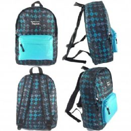 "24 Units of 16.5"" Track Backpacks In Diamond Print - Backpacks 16"""
