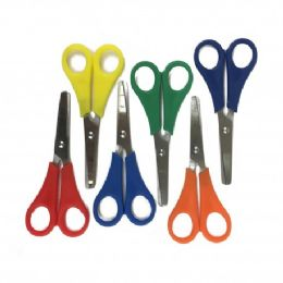"96 Units of 5"" Long Measuring Safety Scissors - Scissors"