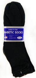 36 Units of Men's Black Ankle Diabetic Sock - Diabetic Socks