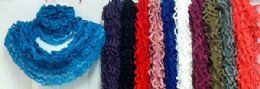 24 Units of Infinity Circle Scarves Knitted Net Styles - Womens Fashion Scarves