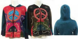 6 Units of Nepal Handmade Cotton Jackets with Hood Peace - Womens Sweaters & Cardigan