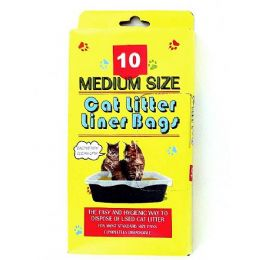 72 Units of 10 Pack litter box liner bags - Pet Toys