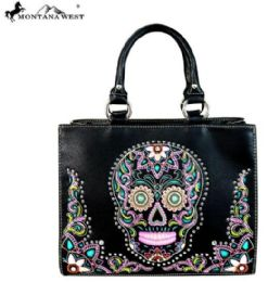 2 Units of Montana West Sugar Skull Collection Concealed Handgun Tote/Crossbody - Tote Bags & Slings