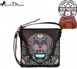 4 Units of Montana West Sugar Skull Collection Concealed Handgun Crossbody - Tote Bags & Slings