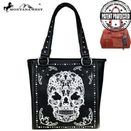 2 Units of Montana West Sugar Skull Collection Concealed Handgun Tote - Tote Bags & Slings