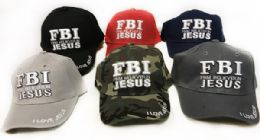 24 Units of Baseball Hats Fbi Firm Believe In Jesus Hats - Baseball Caps & Snap Backs