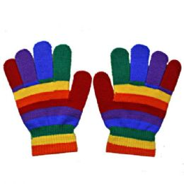 72 Units of RAINBOW GLOVE - Knitted Stretch Gloves