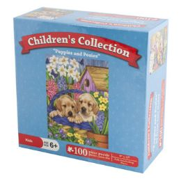96 Units of 100pc Puzzle 6 Assorted Children Collection 9x12