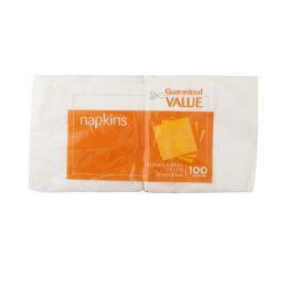 96 Units of Napkins 100 Ct Guaranteed Value Brand
