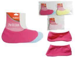 288 Units of 2 Pair Kid's Socks - Girls Ankle Sock