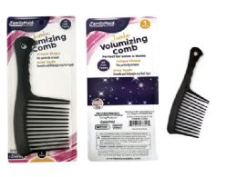 144 Units of Black Jumbo Rake Comb - Hair Brushes & Combs