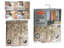 24 Units of Patterned Curtain 1.4m X2.15m 4asst Clr - Home Decor