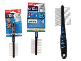 96 Units of 2-Way Pet Comb - Pet Grooming Supplies