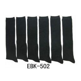 240 Units of Ladies Solid Black High Socks - Womens Knee Highs