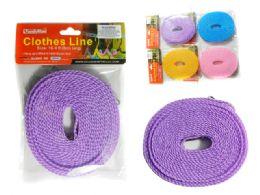 144 Units of Clothes Line 5m 4asst Clr - Clothes Pins