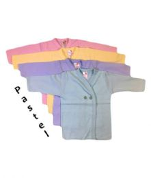 36 Units of Strawberry Infant Long Sleeve Shirt in Assorted Pastel Colors - Baby Apparel
