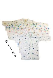 36 Units of Printed Strawberry Infant Long Sleeve Shirt - Baby Apparel