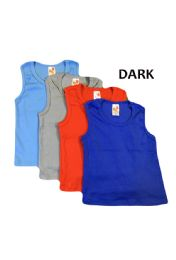 36 Units of Strawberry Boys Infant Tank Top In Dark Colors - Baby Apparel