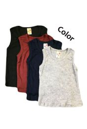 36 Units of Strawberry Boys Infant Tank Top In Assorted Colors - Baby Apparel