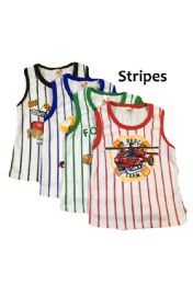 36 Units of Strawberry Boys Striped Infant Tank Top - Baby Apparel