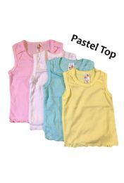 36 Units of Strawberry Girl Singlet In Pastel Colors - Baby Apparel