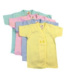 36 Units of Strawberry Infant Shirt 0-9 Months in Assorted Colors - Baby Apparel