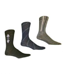 144 Units of Taga Mens Cotton Dress Sock Size 10-13 - Mens Dress Sock