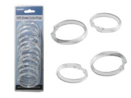 96 Units of SHOWER CURTAIN RINGS 12PC - Shower Curtain