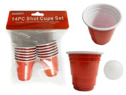 72 Units of Shot Cups 12pc+2pc Balls - Disposable Cups