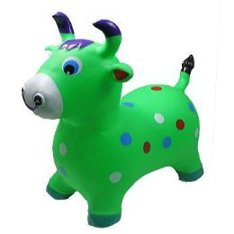 12 Units of Inflatable Jumping Green Cattle - Inflatables