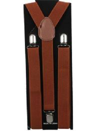 96 Units of ADULT SOLID COLOR SUSPENDER - Suspenders