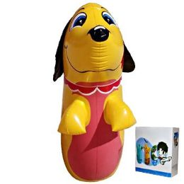24 Units of Inflatable Punching Bag Dog - Inflatables