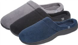 24 Units of Men's Slip On with Side Logo - Men's Slippers
