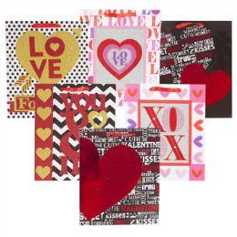 96 Units of Gift Bag Love Glitter/hot Stamp - Valentine Gift Bag's