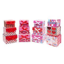 24 Units of Valentine Paper Gift Box - Valentine Gift Bag's