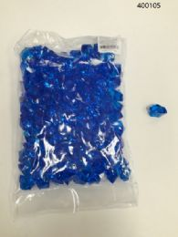 36 Units of Plastic Decoration Stones In Royal Blue - Rocks, Stones & Sand
