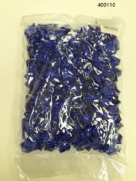 36 Units of Plastic Decoration Stones In Dark Blue - Rocks, Stones & Sand