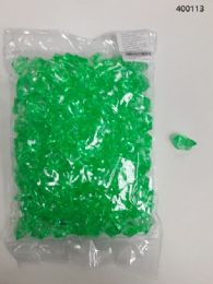 36 Units of Plastic Decoration Stones In Light Green - Rocks, Stones & Sand