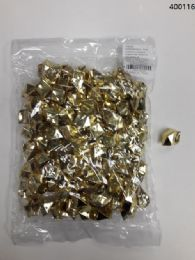36 Units of Plastic Decoration Stones In Gold - Rocks, Stones & Sand
