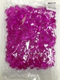 36 Units of Plastic Decoration Stones In Purple - Rocks, Stones & Sand