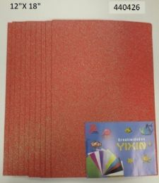 24 Units of Eva Foam With Glitter 12x18 10 Sheets In Coral - Poster & Foam Boards