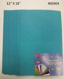 24 Units of Eva Foam With Glitter 12x18 10 Sheets In Light Blue - Poster & Foam Boards