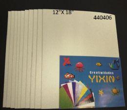 24 Units of Eva Foam With Glitter 12x18 10 Sheets In White - Poster & Foam Boards
