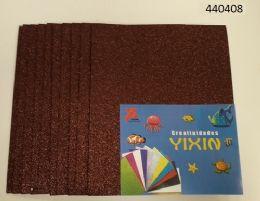 "48 Units of Eva Foam W/ Glue And Glitter 12""x12"" 10 Sheets In Brown - Poster & Foam Boards"