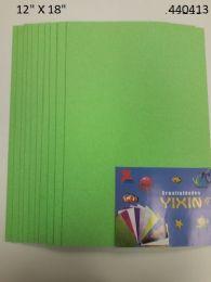 "48 Units of Eva Foam W/ Glue And Glitter 12""x12"" 10 Sheets In Lime Green - Poster & Foam Boards"