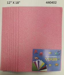 "48 Units of Eva Foam W/ Glue And Glitter 12""x12"" 10 Sheets In Light Pink - Poster & Foam Boards"